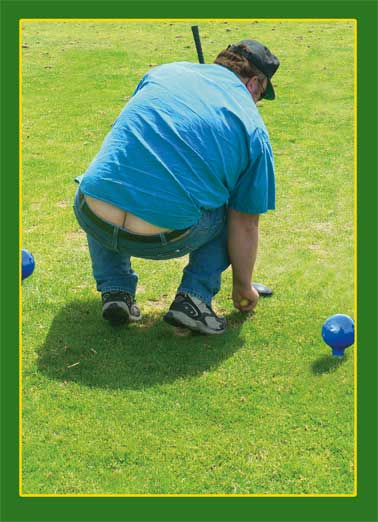 Squatting Golfer Funny Birthday Card For Him Funny, Clubs, Golfing Jokes, Hilarious LOL, Golfers, Birthday Cards for Him, For Golfers, Beer, Funny Cards, Golf Nuts, Butt, Crack, Squat, Mooning, Gross, Awkward Family Photos,  Happy Birthday to a real CRACK golfer!