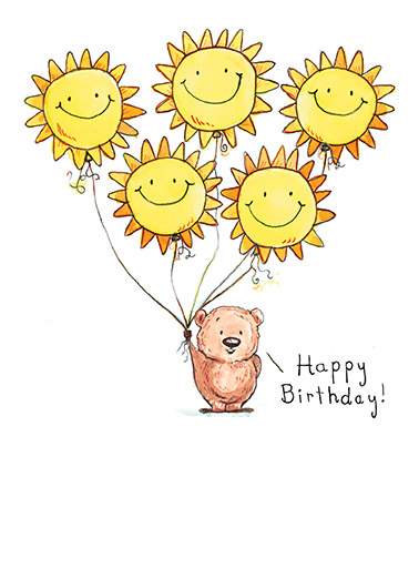 Sunshine and Smiles Funny Birthday Card Simply Cute   Wishing you sunshine & smiles today and always!