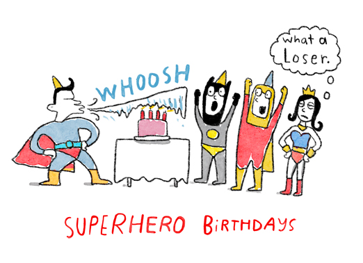 "Superhero Birthday Party Funny Birthday   Send a wish with this funny ""Superhero Birthday Parties"" card or Ecard to put a smile on someone's face today."