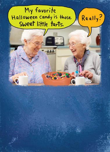 Funny Halloween   Sweet Farts! | Old, women, funny, halloween, candy, farts, toots, sweets,