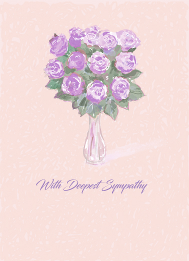 "Sympathy Roses Funny Sympathy Card  Send a wish with this ""Sweet Bunches"" Sympathy card or Ecard to put a smile on someone's face today."