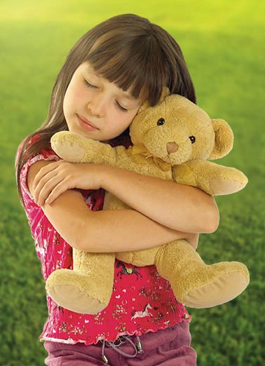 Teddy Hug Funny Miss You Card    Yeah... THAT'S how much I miss you...