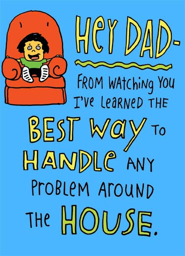 The Best Way Funny Handyman Card Father's Day   Call Mom.  Happy Father's Day