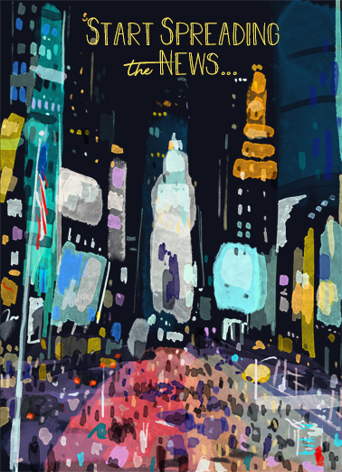 "Times Square Funny One from the Heart   Send a wish with this festive ""Times Square At Night"" Birthday card or Ecard to put a smile on someone's face today... and we'll include Free first-class postage on all printed cards and a free printout link on all Ecards that arrive instantly.  ...it's your BIRTHDAY!"