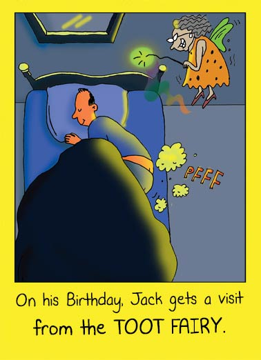 Toot Fairy Funny Birthday Card For Him Toot Fairy Visit | Fairy, birthday, fart, gas, funny, cartoon, comic, birthday, humor, lol, joke, flying, tooting, cute, silly Hope your Birthday's a GAS!