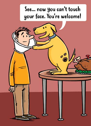 Thanksgiving Dog Cone Funny Thanksgiving Card  Say Happy Thanksgiving with this funny dog card or ecard perfect for the covid quarantine,