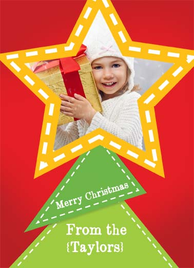 Tree Topper Funny Christmas Card Add Your Photo