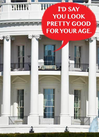 Funny Funny Political   the president says you look good for your age | lie lies president white house oval office orange age true look anything politics liar fact fact alt-fact, Then again, I can say anything I want whether it's true or not.