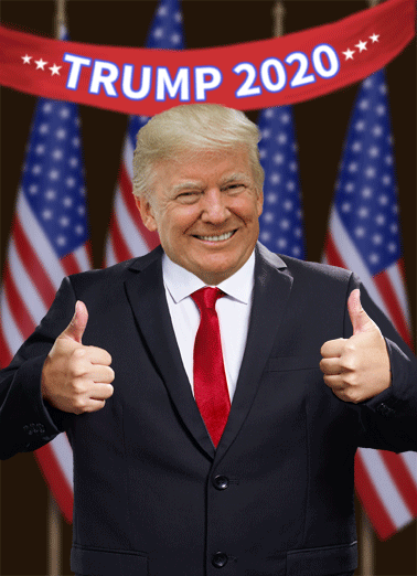 Trump 2020 Scary  Funny Political  Democrat Send someone a political greeting card for their birthday! | President Trump funny scary worrying getting older 2020 campaign presidential White House  Looks like getting older is the least of our worries!