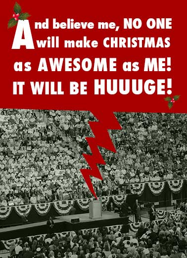Trump Christmas Funny Christmas Card President Donald Trump