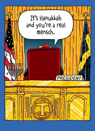 trump oval office hanukkah funny hanukkah card president donald j trump sitting in the oval - Funny Hanukkah Cards