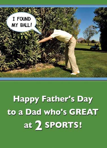 Two Sports Dad Funny Father's Day  Golf  Golf AND Hunting!