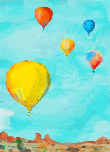 "Uplifting Balloons Funny One from the Heart Card Birthday Send a wish with this colorful ""Uplifting Balloons"" Birthday card or Ecard to put a smile on someone's face today... and we'll include Free first-class postage on all printed cards and a free printout link on all Ecards that arrive instantly.  Wishing you an uplifting Birthday!"