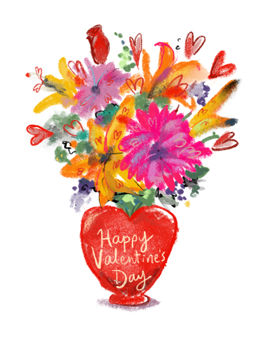 Valentine Bouquet Funny Valentine's Day  Sweet Send this sweet Valentine's Day Ecard to the love of your life, and we'll include a free printout!  Wishing you a wonderful Valentine's Day!