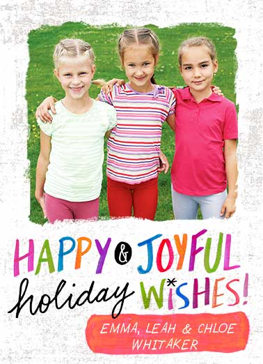 Bright Wishes Funny Christmas Card Add Your Photo