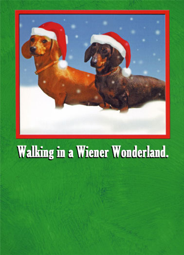 Walking Wiener Funny Christmas