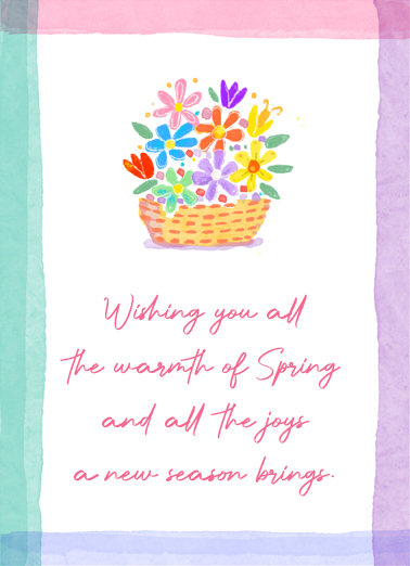 "Warm Spring Funny Birthday Card April Birthday Send a wish with this sweet ""Warm Spring Wishes"" Birthday card or Ecard to put a smile on someone's face today."