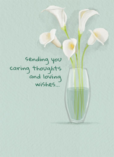 Watercolor Lily Funny Sympathy Card  Send a personalized greeting card to help a friend in need. | Thinking of you sympathy feel better get well soon Thinking of you