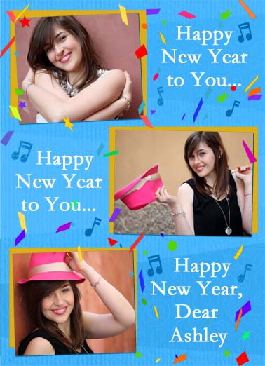 We Totally Love you NY Funny Love  Add Your Photo Happy New Years to you photo upload card. | Happy New Years photo upload song sing confetti drink drinking midnight ball drop we love you We totally love you!