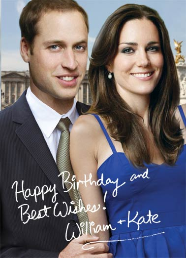 Will And Kate Funny Political Card Autograph
