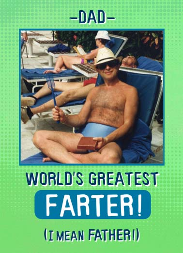 World's Greatest Farter Funny Kevin Card Birthday World Greatest Farter Birthday father dad photo upload both amazing   Actually, I mean both!