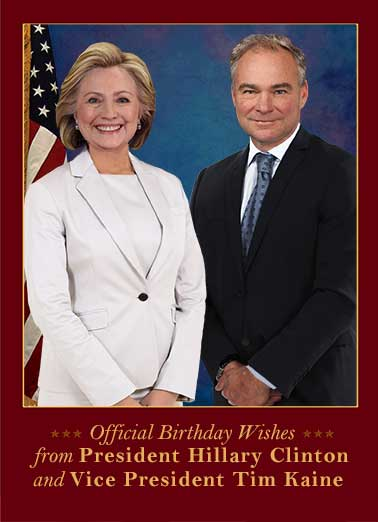 Funny Trending Card  Funny, President, Hillary Clinton, Vice President, Tim kaine, VP, LOL, political, jokes, election, winner, official, wishes, birthday, cute, fun, white house, campaign, vote, democrat, republican, trump, pence, hilarious, Bad, anti-Hillary, scandal, email, crook, corrupt, emails, server, private, liar, pantsuit, worst ever,  And you thought getting older was the only thing you had to worry about.  Happy Birthday