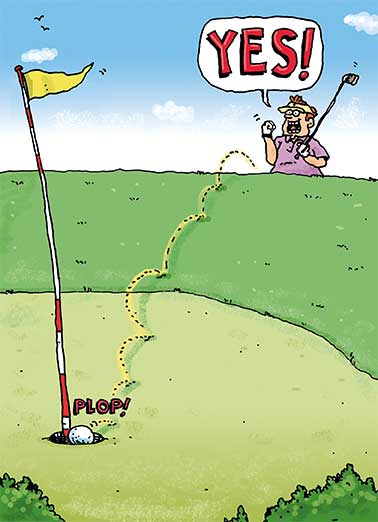 Yes Golfer Funny Father's Day Card For Him Say Happy Father's Day with a Golf card.  Share a wish about golf