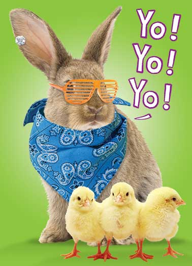 Funny For Anyone Card  ,  Shout out to all my peeps!  Happy Easter