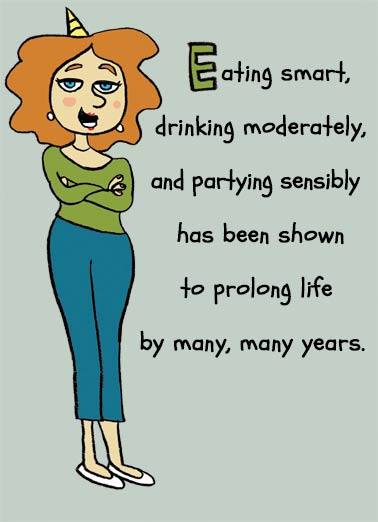 You'll Be Missed Funny Birthday Card Drinking Eating smart and healthy living advice for your birthday | missed, oops, slam, funny, humorous, femme, spokes, woman, advice, humor, life, wisdom, sensible, lifestyle, miss  You'll be missed. Happy Birthday