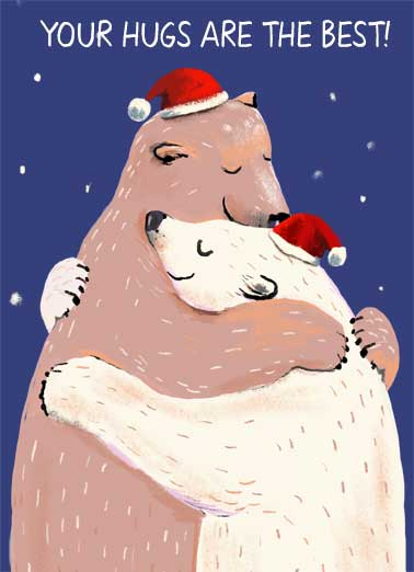 Your Christmas Hugs Funny Christmas  Hug two bears hugging.  a big bear hug.   Merry Christmas