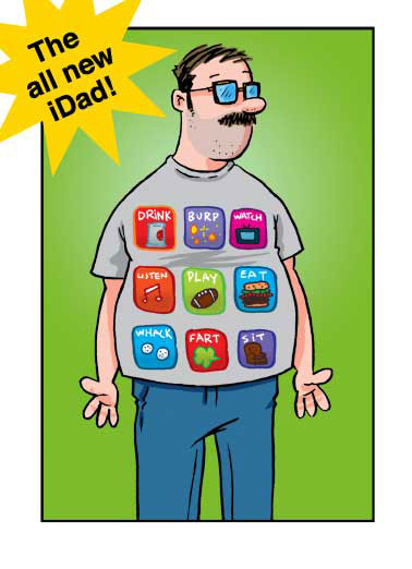 iDad  Funny  Father's Day  Appy Father's Day